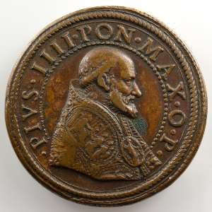 Gianfederico Bonzagni   Médaille en bronze   31mm   Port et fortifications de CivitaVecchia    TTB/TTB+