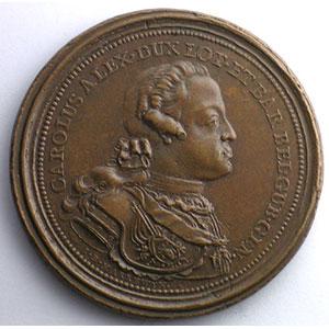 Harrewyn   Médaille en cuivre   48mm   1754    TTB+