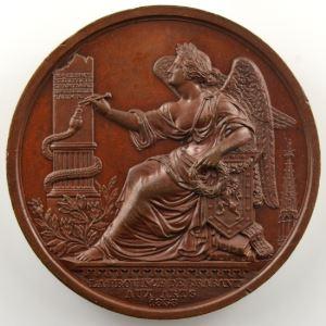HART   La Province de Brabant aux Arts   1838   bronze   50mm    SUP