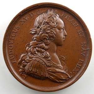 J.C.Roettiers/J.Duvivier   Mariage de Mademoiselle de Montpensier avec le Prince des Asturies   bronze   41mm    SUP/FDC