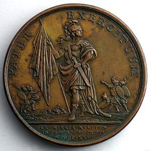 J.Duvivier/J.C.Roettiers   Levée de soixante mille hommes   bronze   41mm    SUP