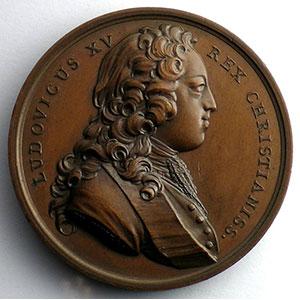 J.Duvivier   Mariage de Louis XV et de Marie Leszczynska   bronze   41mm    SUP/FDC