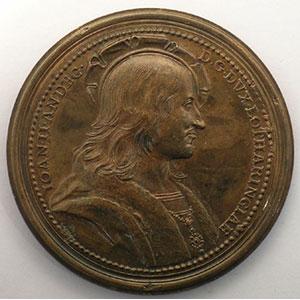Jean II d'Anjou   bronze   47 mm    TTB+/SUP
