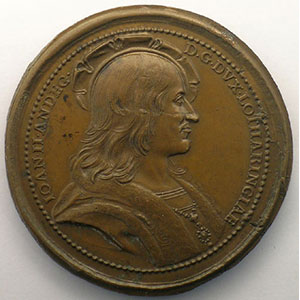 Jean II d'Anjou   bronze   47 mm    TTB+