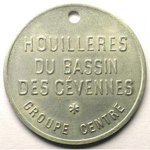 Jeton de Chauffage   Bon 2 sacs de bois   Alu, R tr  40mm    TTB+