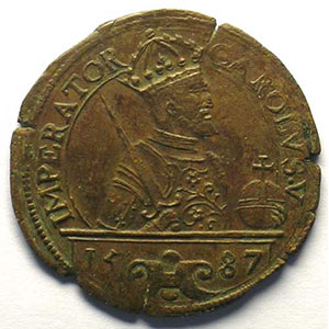 Jeton de cuivre   1587    TTB+