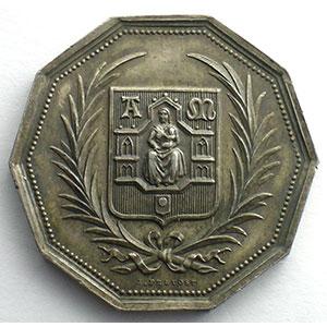 jeton décagonal en argent    SUP/FDC