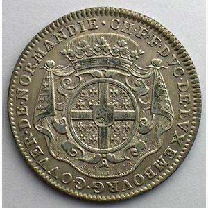 Jeton en argent   31mm   Charles-François-Frédéric, Duc de Montmorency-Luxembourg   1709    TTB+