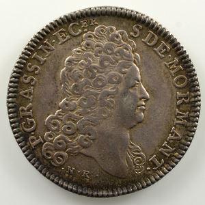 Jeton en argent de la Noblesse de Bourgogne   Pierre Grassin et Charlotte Dupuy    TTB/TTB+