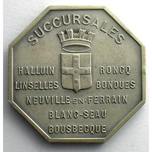 jeton octogonal en argent   1933    SUP