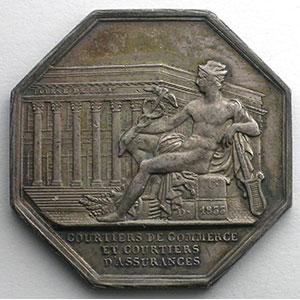Jeton octogonal en argent   Louis-Philippe I   Multirisques    SUP