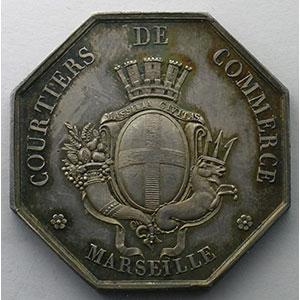Jeton octogonal en argent   Marseille    SUP