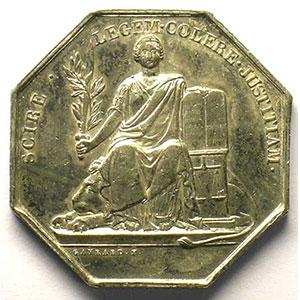 Jeton octogonal en argent    TTB