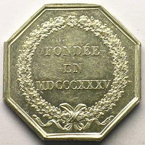 Jeton octogonal en argent    TTB+