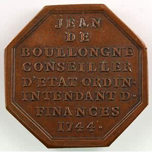 Jeton octogonal en cuivre    1744    SUP