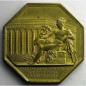 Jeton octogonal en cuivre doré   Louis-Philippe I   Multirisques    SUP/FDC