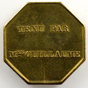 Jeton publicitaire octogonal en laiton   23mm   (1830-1850)    SUP