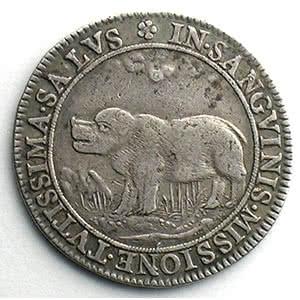 jeton rond en argent   1645    TTB