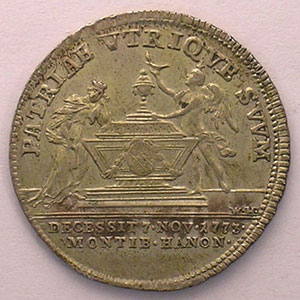 Jeton rond en argent   24mm   1773    SUP