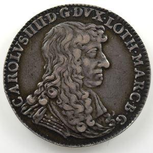 Jeton rond en argent   28.5mm   Charles IV   1669    TTB