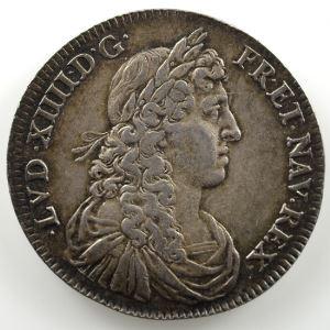 Jeton rond en argent   28,5mm   Louis XIV   1661    TTB