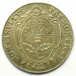 Jeton rond en argent   28mm   1643    TTB