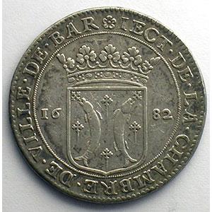 Jeton rond en argent   28mm   1682    TTB