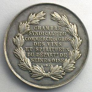 Jeton rond en argent   28mm   Seine & Oise   Chambre syndicale du commerce en gros des vins et spiritueux    SUP