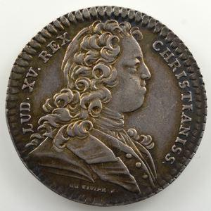jeton rond en argent   29mm   Louis XV   1728    TTB+