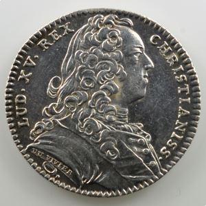 jeton rond en argent   29mm   Louis XV   1737    SUP
