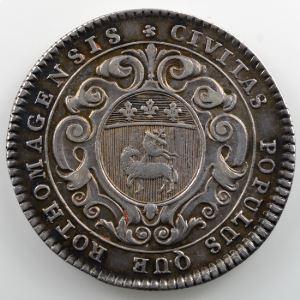 Jeton rond en argent   31mm   Ville de Rouen   Louis XV    TTB