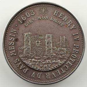 Jeton rond en argent  32mm   (fin XIX° siècle)    SUP