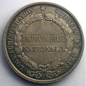 Jeton rond en argent   Imprimerie Nationale   36mm    SUP/FDC