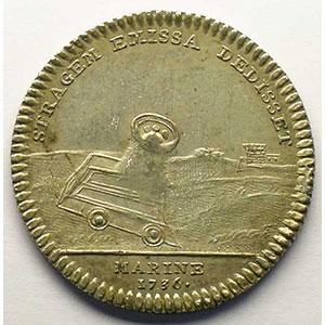 jeton rond en argent   L. Alexa. De Bourbon   1736    TTB+/SUP