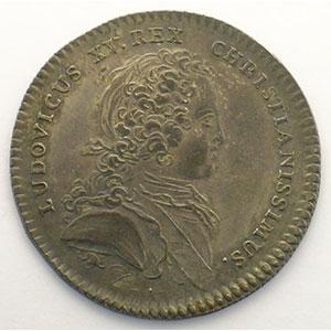 jeton rond en argent   Louis XV   1724    SUP