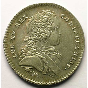 jeton rond en argent   Louis XV   1726    TTB/TTB+