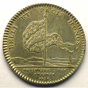 jeton rond en argent   Louis XV   1726    TTB