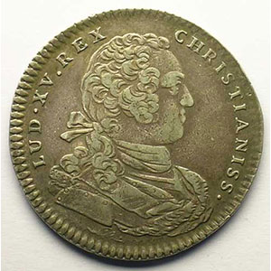 jeton rond en argent   Louis XV   1731    TTB