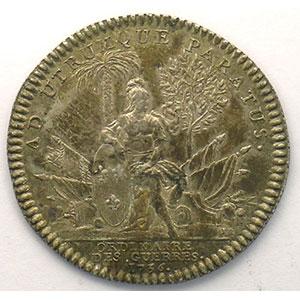 jeton rond en argent   Louis XV   1736    TTB/TTB+