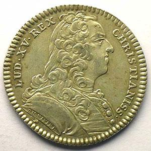 jeton rond en argent   Louis XV   1739    TTB
