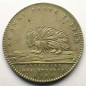 jeton rond en argent   Louis XV   1741    TTB