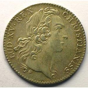 jeton rond en argent   Louis XV   1752    TTB