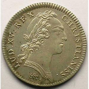 jeton rond en argent   Louis XV   1754    TTB/TTB+