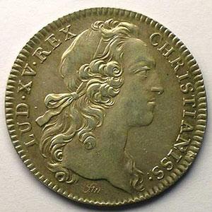 jeton rond en argent   Louis XV   1754    TTB+