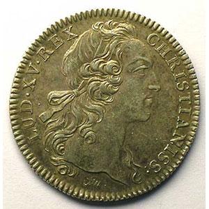 jeton rond en argent   Louis XV   1755    TTB+
