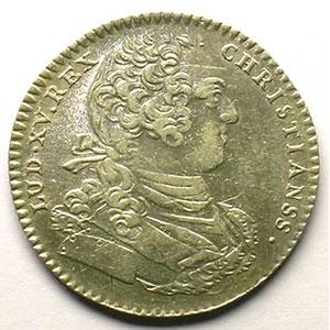 jeton rond en argent   Louis XV   1768    TTB+