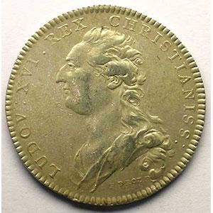 jeton rond en argent   Louis XVI   1776    TTB