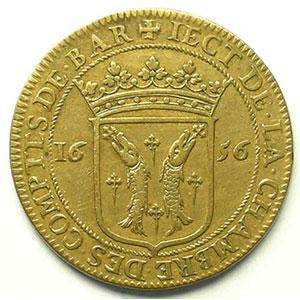Jeton rond en cuivre   Louis XIV   27,5mm   1656    TB+/TTB