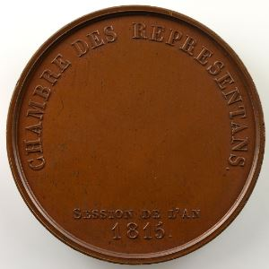 JEUFFROY   Médaille en bronze   38mm   Chambre des Représentans   Session de 1815    SUP/FDC