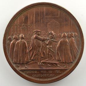Johann Martin Krafft   Médaille en bronze   50mm   1770    SUP
